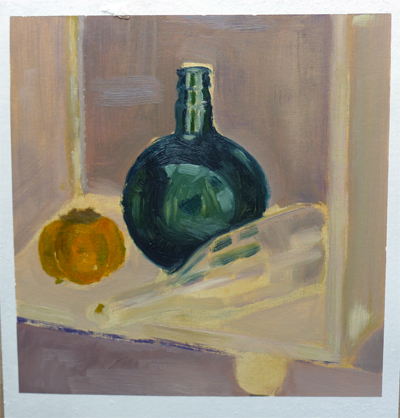 Oilpainting sketch of a still life || Olieverfschets van een stilleven