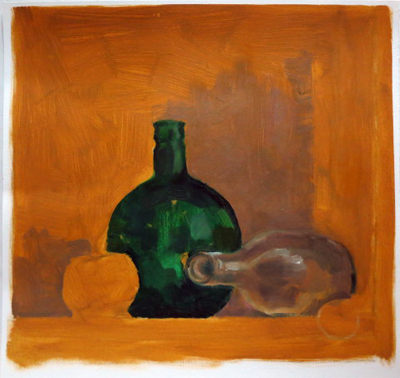 Oilpainting sketch after still life || Olieverf schets naar stilleven