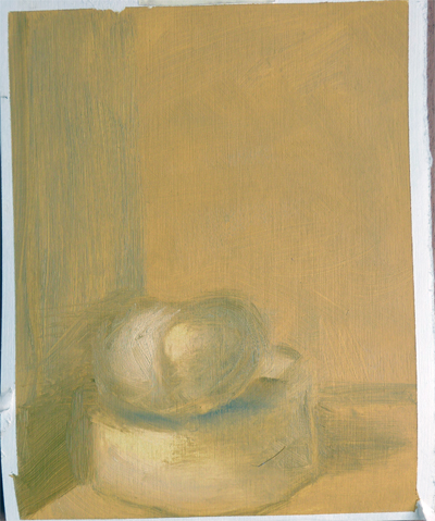 Oilpainting sketch after Kaki fruit || Olieverfstudie naar een Kaki fruit