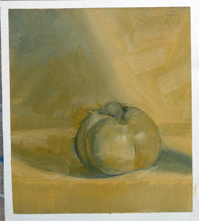 Oilpaint study after Kaki fruit || Olieverfstudie naar Kaki fruit