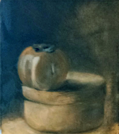 Oilpainting study after Kaki fruit || Olieverfstudie naar Kaki fruit