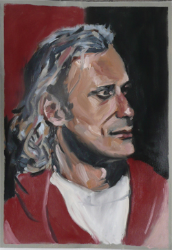 Portret-olieverfstudie in 1 sessie door Sergey/ Portrait oilpaint study in one session by Sergey.